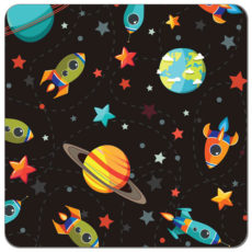 Space Race Cloth Diaper